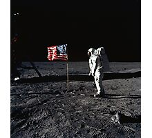 Apollo 11 Photograph on the Moon Photographic Print