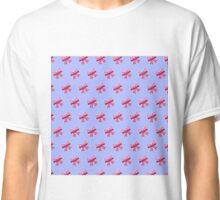 Bow Emoji Pattern Purple Classic T-Shirt