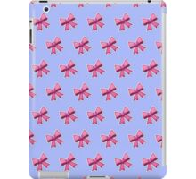 Bow Emoji Pattern Purple iPad Case/Skin