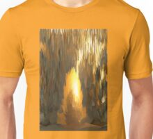 Golden Ice Cave Design Unisex T-Shirt
