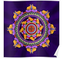 The Lu Mandala; Prosperity & Success Poster