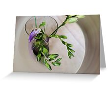 purple freesia buds Greeting Card