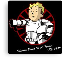 Thumbs down to a traitor  Canvas Print