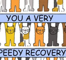 Cats wishing you a speedy recovery. Sticker