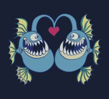 Deep Sea Fishes Madly in Love One Piece - Long Sleeve