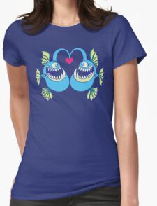 Deep Sea Fishes Madly in Love Womens Fitted T-Shirt