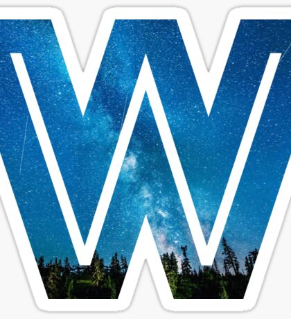 The Letter W - Starry Night Sticker