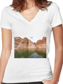 Lake Powell in Arizona, USA Women's Fitted V-Neck T-Shirt