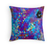 Purples and Blues Throw Pillow