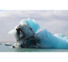 Jokulsarlon Glacial Lagoon Icebergs in Iceland Photographic Print
