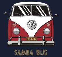 VW T1 SambaBus (red) Kids Clothes