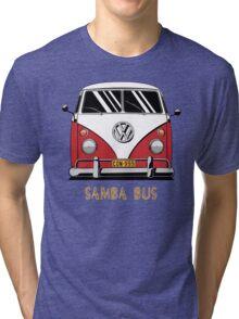 VW T1 SambaBus (red) Tri-blend T-Shirt