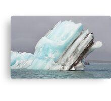 Jokulsarlon Glacial Lagoon iceberg in Iceland Canvas Print