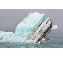 Jokulsarlon Glacial Lagoon iceberg in Iceland Photographic Print