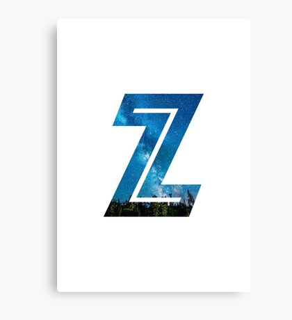 The Letter Z - Starry Night Canvas Print