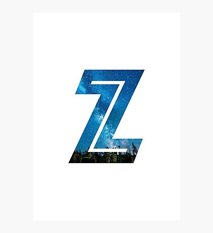 The Letter Z - Starry Night Photographic Print