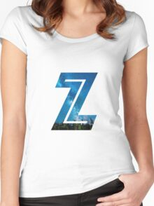 The Letter Z - Starry Night Women's Fitted Scoop T-Shirt