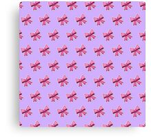 Bow Emoji Pattern Violet Canvas Print
