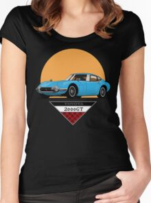 Toyota 2000 GT (blue) Women's Fitted Scoop T-Shirt