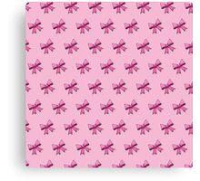 Bow Emoji Pattern Pink Canvas Print