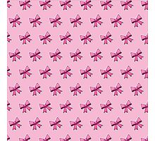 Bow Emoji Pattern Pink Photographic Print