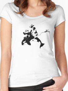 Monochrome Menagerie Women's Fitted Scoop T-Shirt
