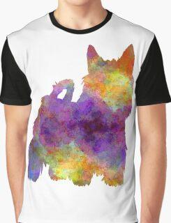 Australian Silky Terrier in watercolor Graphic T-Shirt