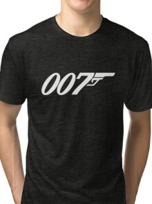 007 James Bond White and black Tri-blend T-Shirt