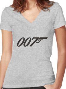 007 James Bond Women's Fitted V-Neck T-Shirt