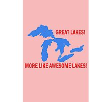 AWESOME lakes funny nerd geek geeky Photographic Print