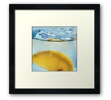 Refreshing Lemon Drink Framed Print