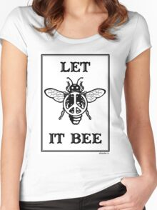 Let It Bee Women's Fitted Scoop T-Shirt