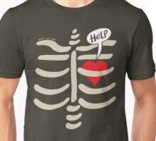 Imprisoned Heart Asking for Help Unisex T-Shirt