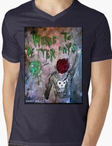 For Better Days Mens V-Neck T-Shirt