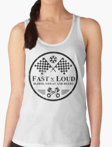 Fast and Loud, Inspired Gas Monkey. Black. Women's Tank Top