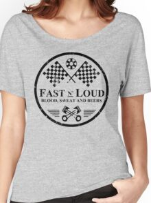 Fast and Loud, Inspired Gas Monkey. Black. Women's Relaxed Fit T-Shirt
