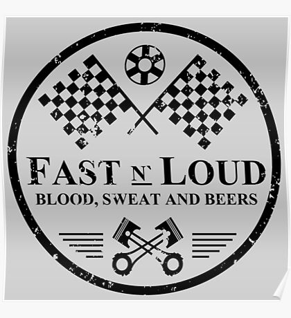 Fast and Loud, Inspired Gas Monkey. Black. Poster