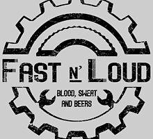 Fast and Loud, Inspired Gas Monkey. Black design. by Yolanda Martínez