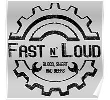 Fast and Loud, Inspired Gas Monkey. Black design. Poster