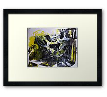It's better to travel hopefully than to arrive - Original BIG Wall Modern Abstract Art Painting Framed Print
