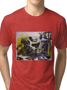 It's better to travel hopefully than to arrive - Original BIG Wall Modern Abstract Art Painting Tri-blend T-Shirt