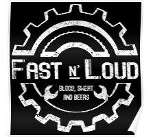 Fast and Loud, Inspired Gas Monkey. White design. Poster