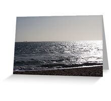 Brighton Beach Sunset Greeting Card