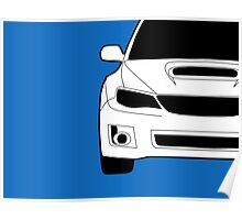 Sticker / Decal: Subaru WRX STI Front Angle with Corner Edge Cut Poster