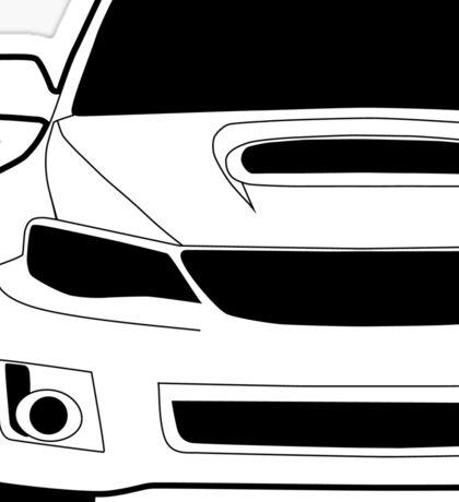 Sticker / Decal: Subaru WRX STI Front Angle with Corner Edge Cut Sticker