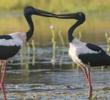 The Stork Kiss Sticker