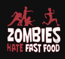 Zombies hate fast food - T-shirts & Hoodies by awesometees21