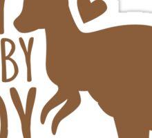 Crazy Wallaby lady (like a little kangaroo) Sticker