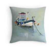 Seaton Rose and Gulls, Staithes Throw Pillow