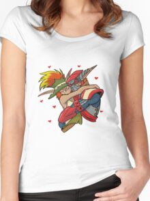 the crack ship  Women's Fitted Scoop T-Shirt
